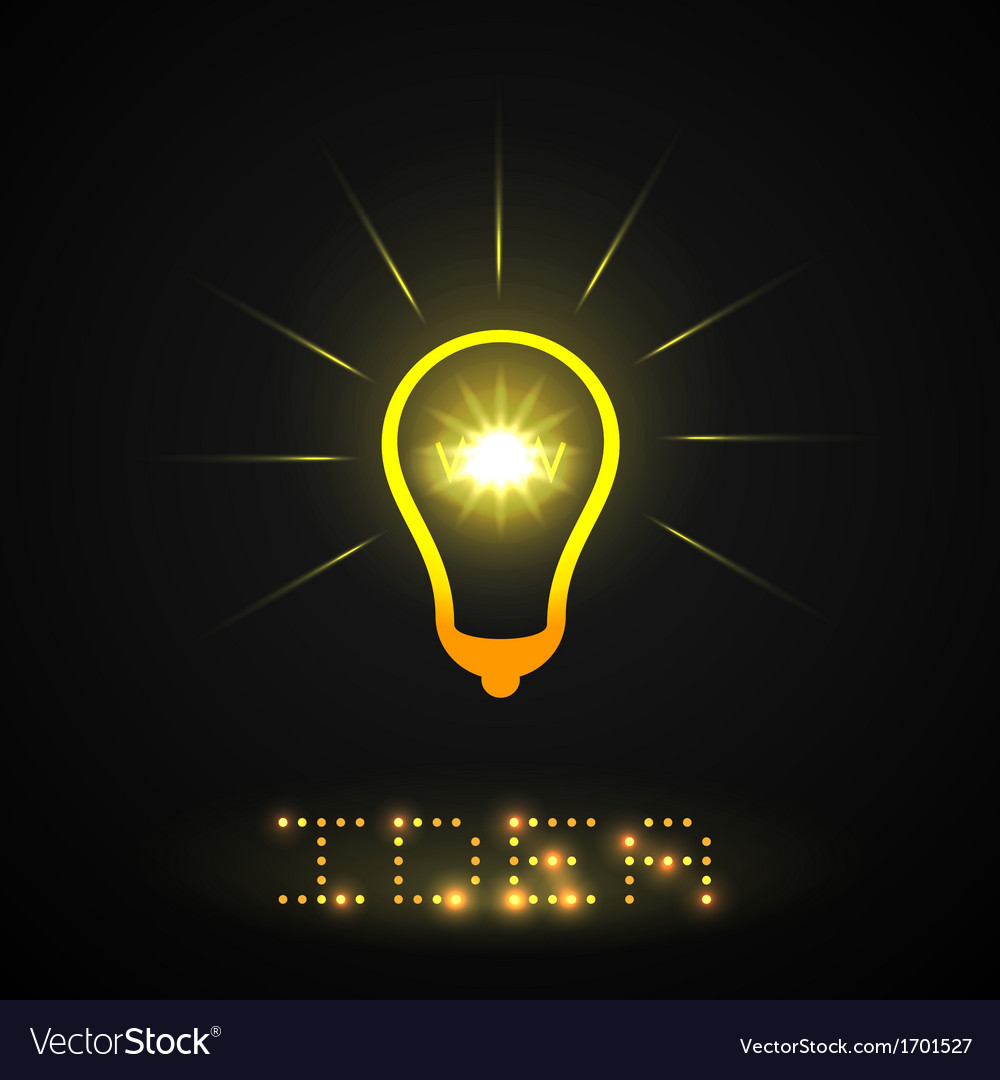 Idea light bulb vector   Price: 1 Credit (USD $1)