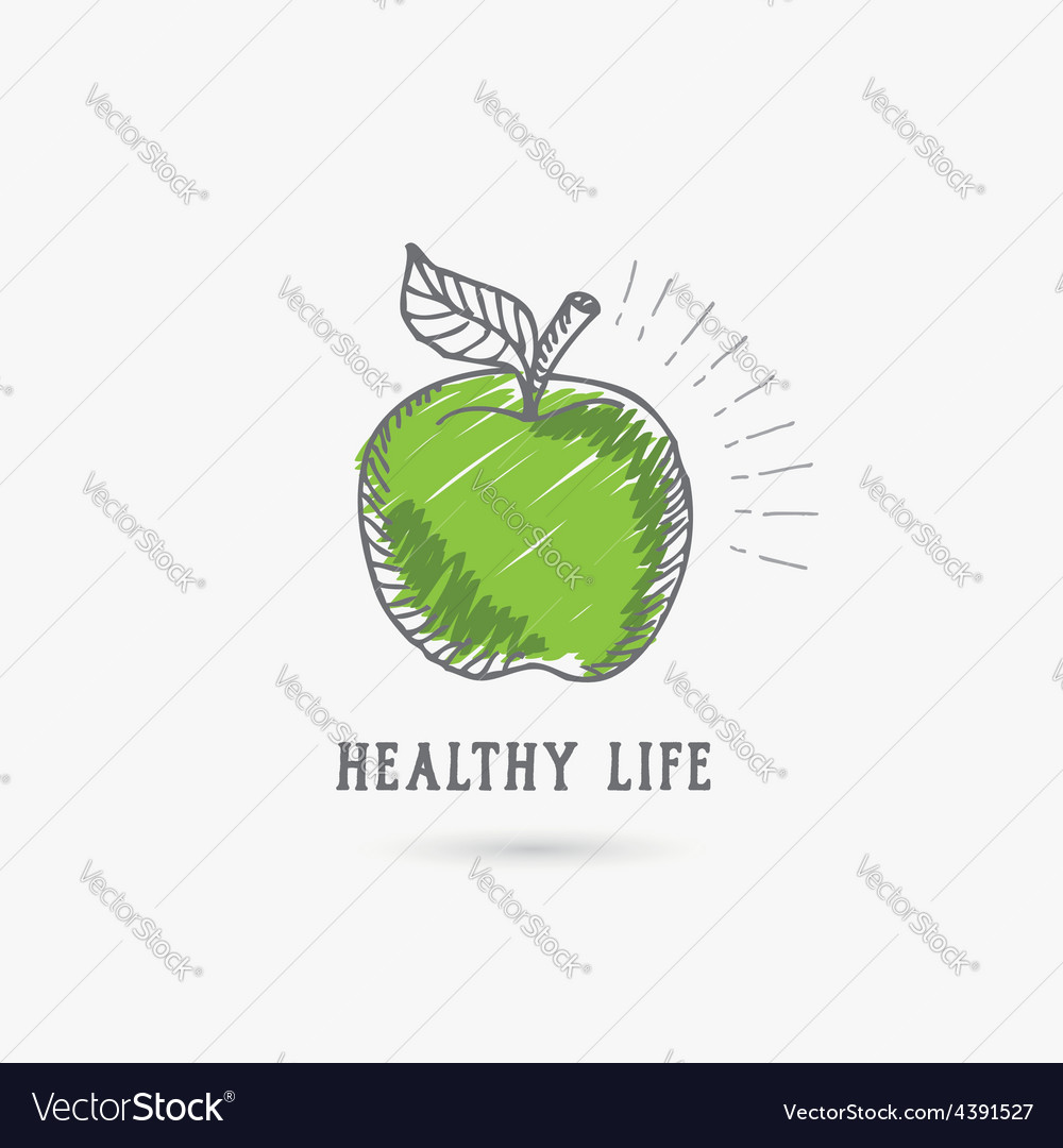 Logo healthy lifestyle design icon vector | Price: 1 Credit (USD $1)