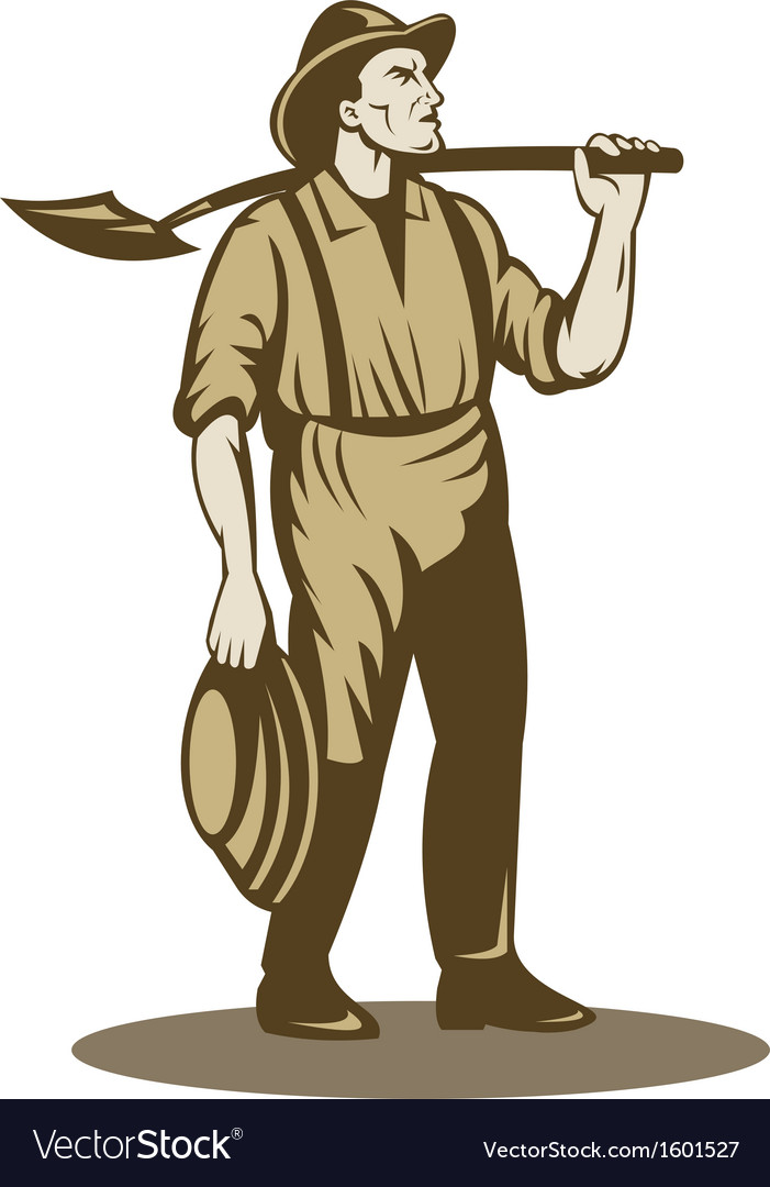 Miner prospector or gold digger vector | Price: 1 Credit (USD $1)