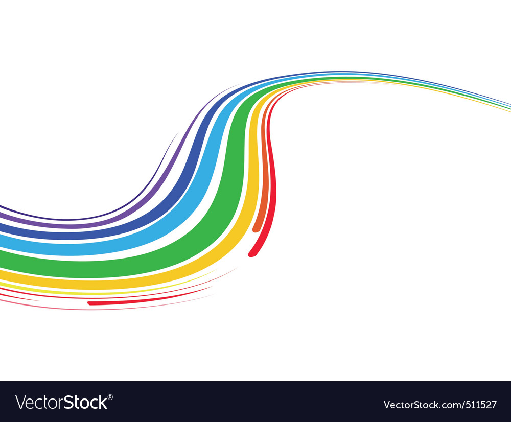 Multicolor wave vector | Price: 1 Credit (USD $1)