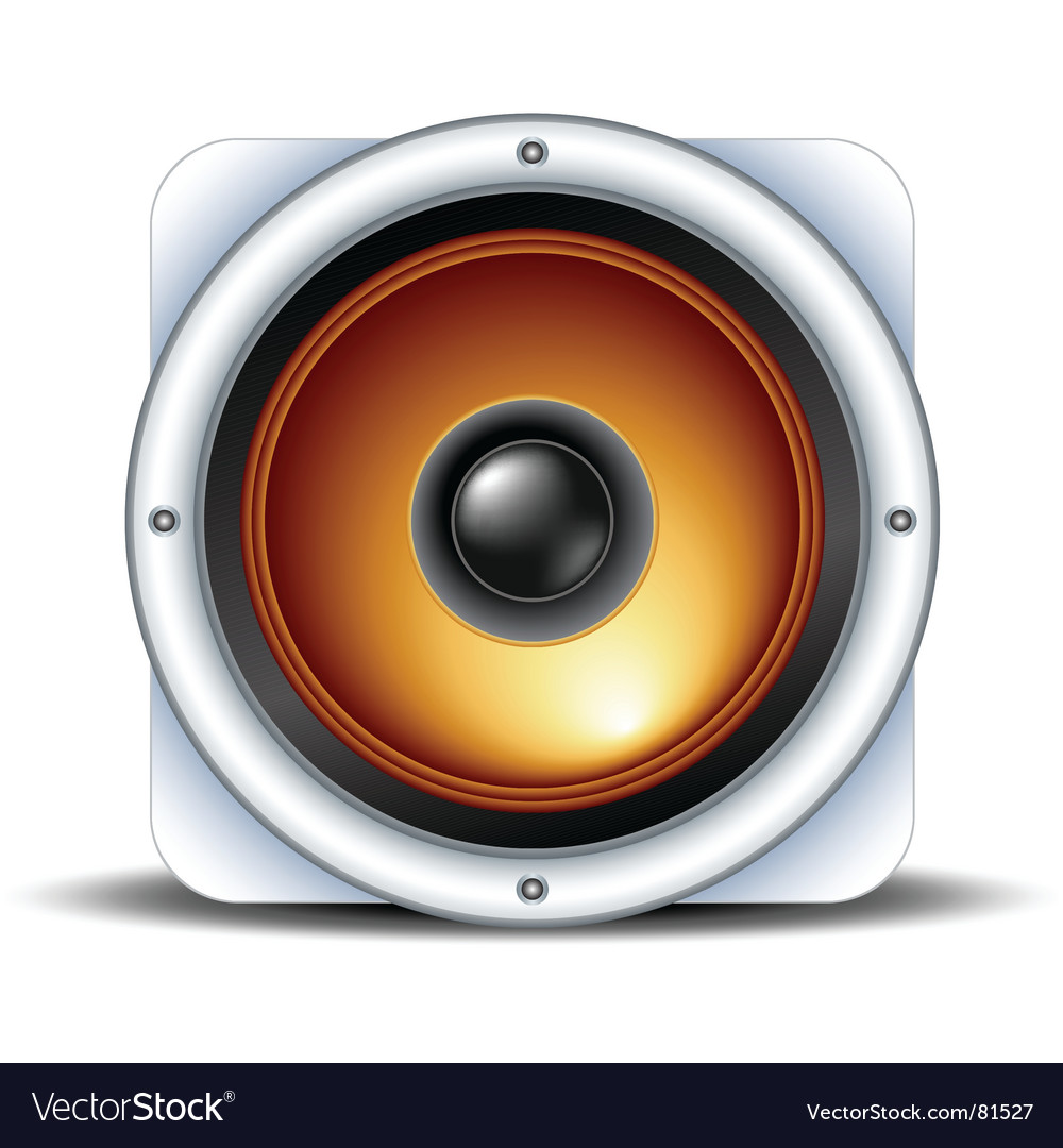 Speaker detailed icon vector | Price: 1 Credit (USD $1)