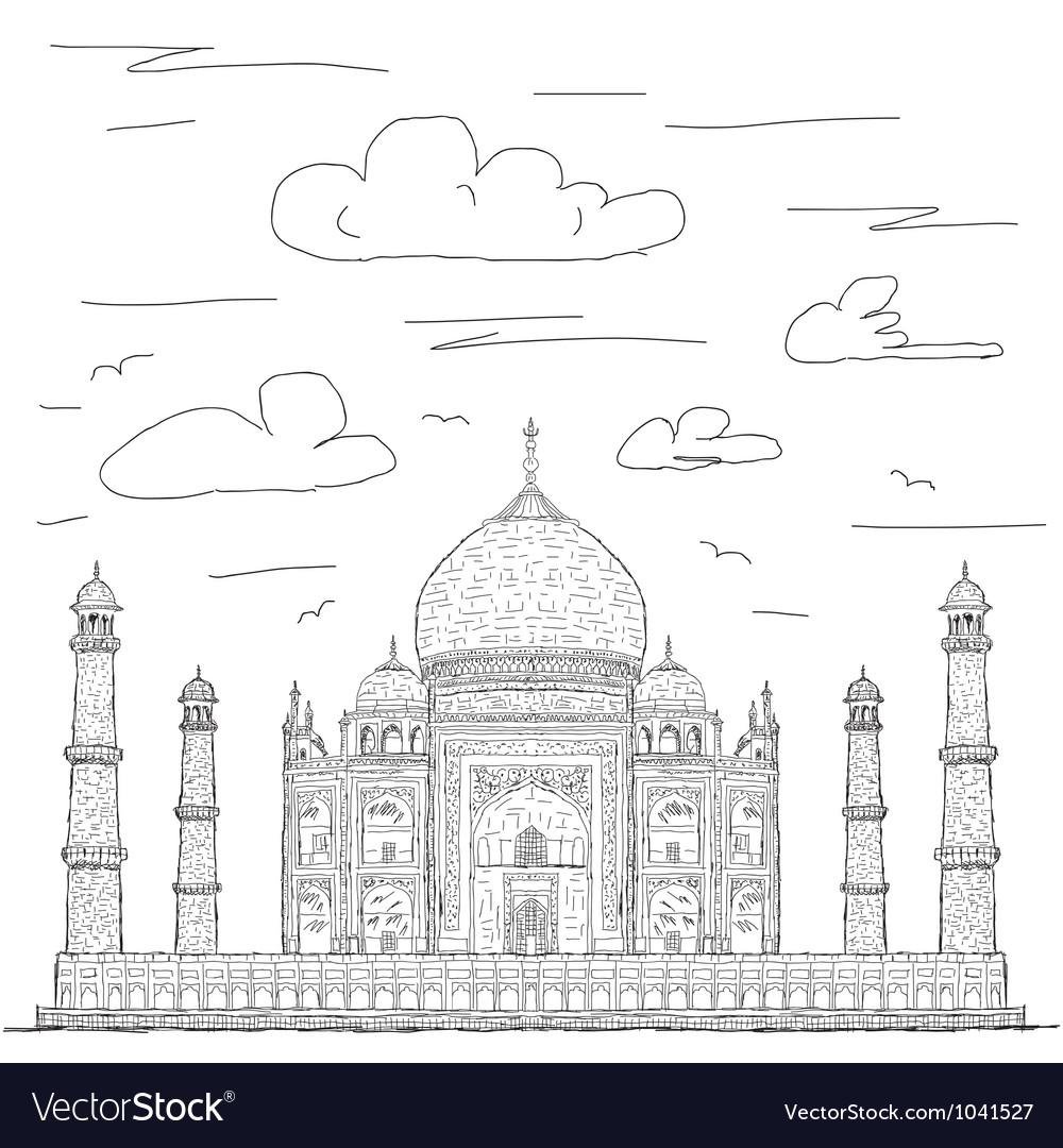 Taj mahal vector | Price: 1 Credit (USD $1)