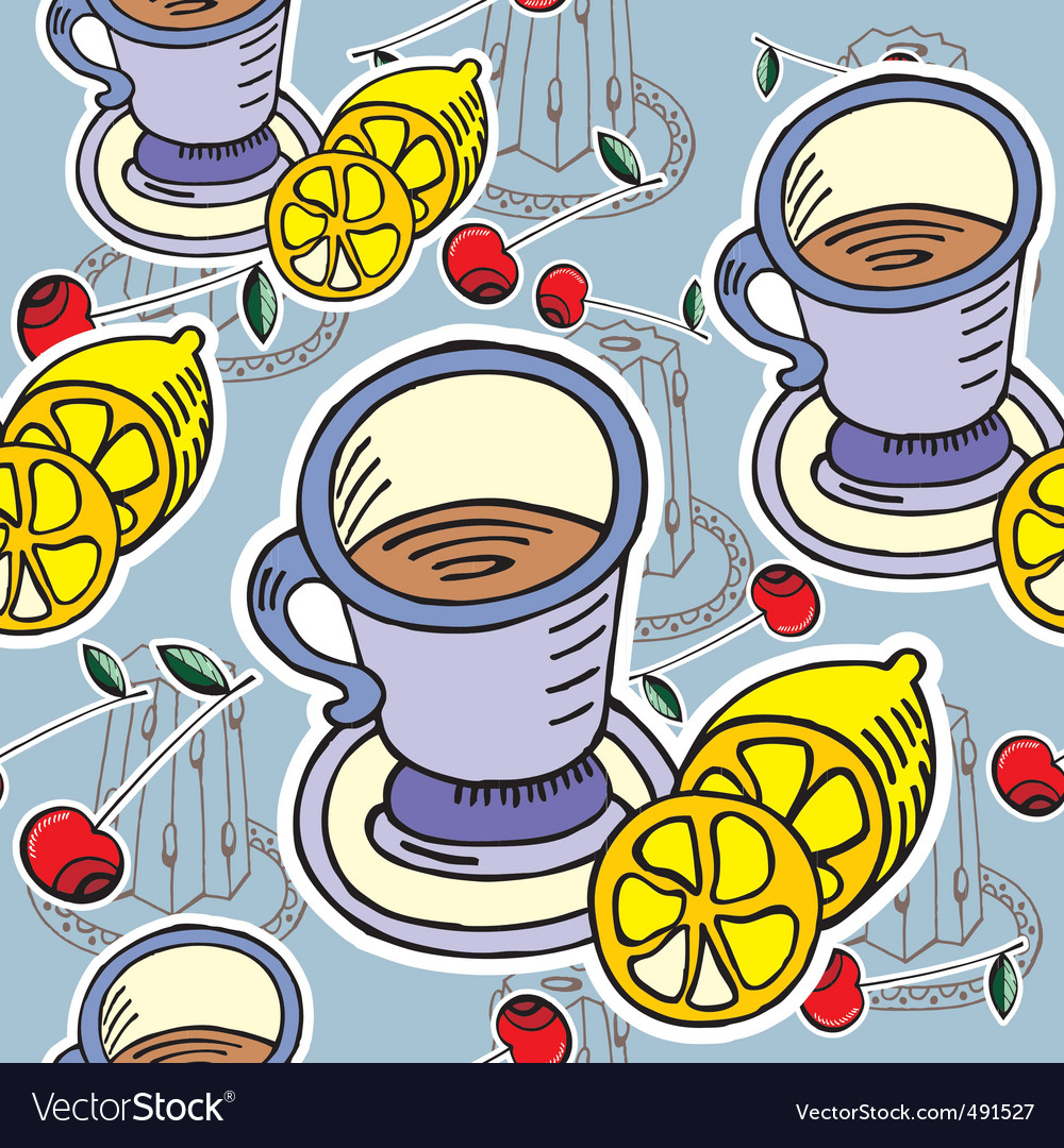 Teatime pattern vector | Price: 1 Credit (USD $1)