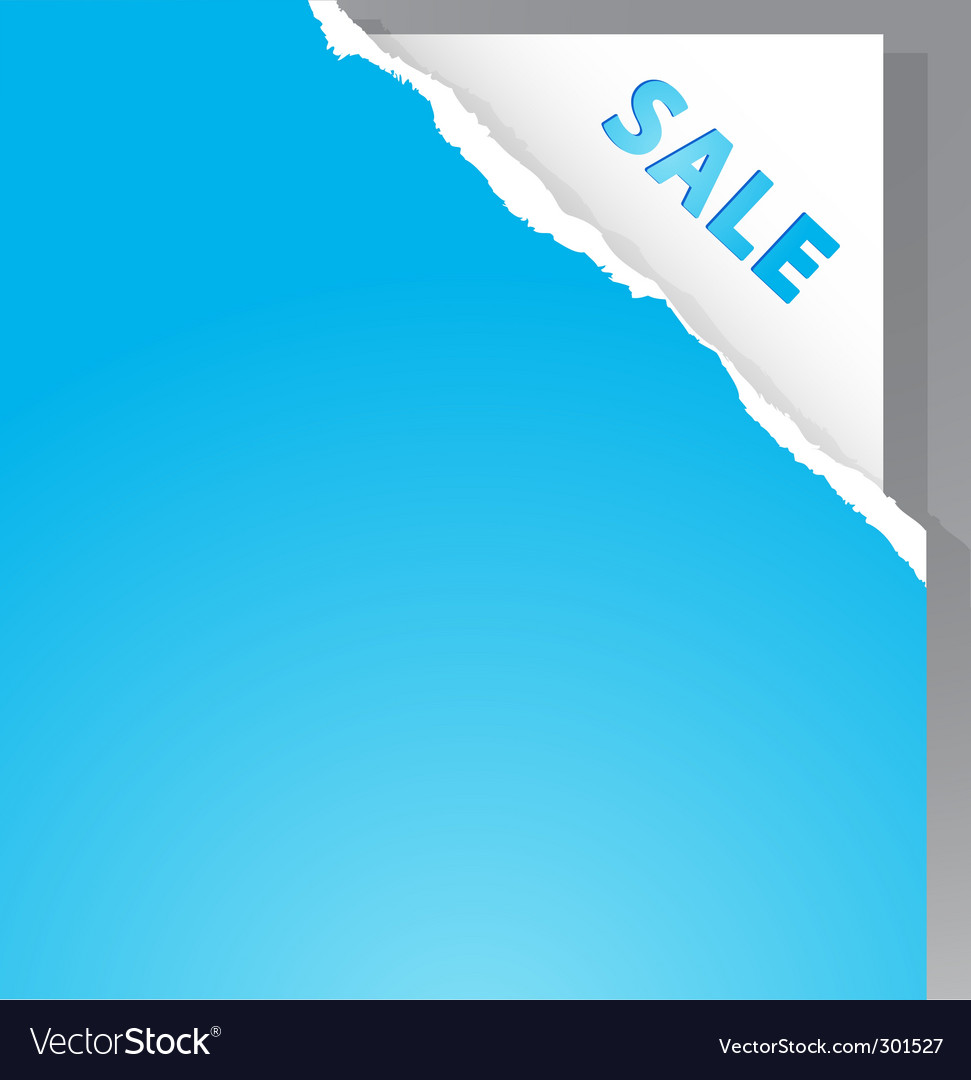 Torn paper with sale sign vector | Price: 1 Credit (USD $1)