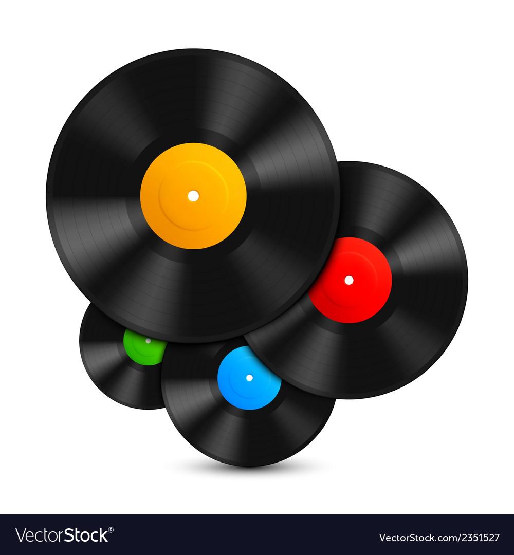 Vinyl records vector | Price: 1 Credit (USD $1)