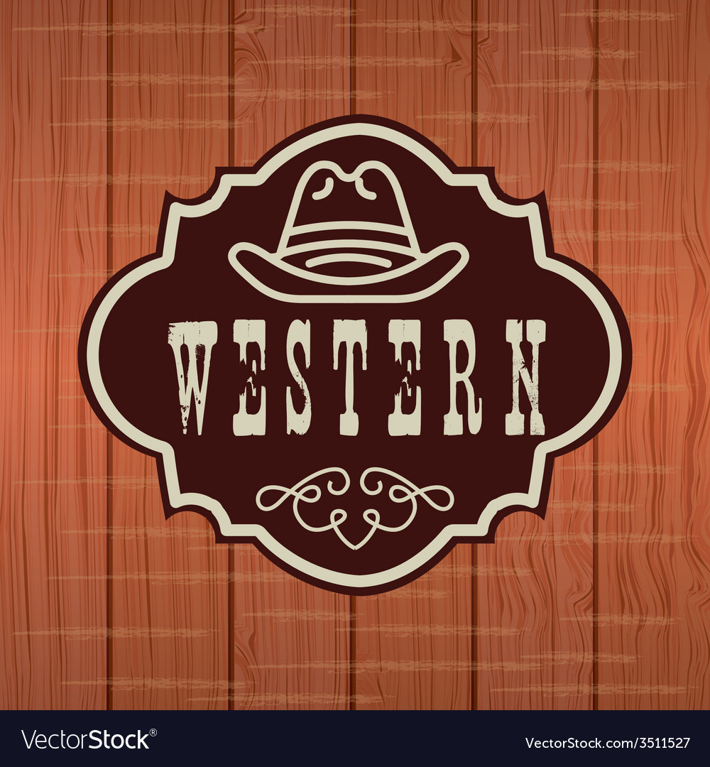 Western banner design vector | Price: 1 Credit (USD $1)