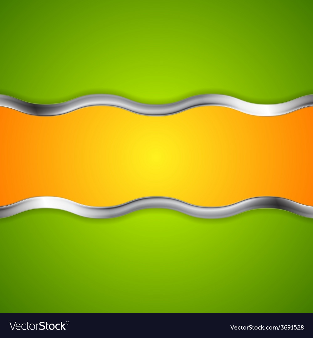 Abstract bright background with metallic waves vector | Price: 1 Credit (USD $1)