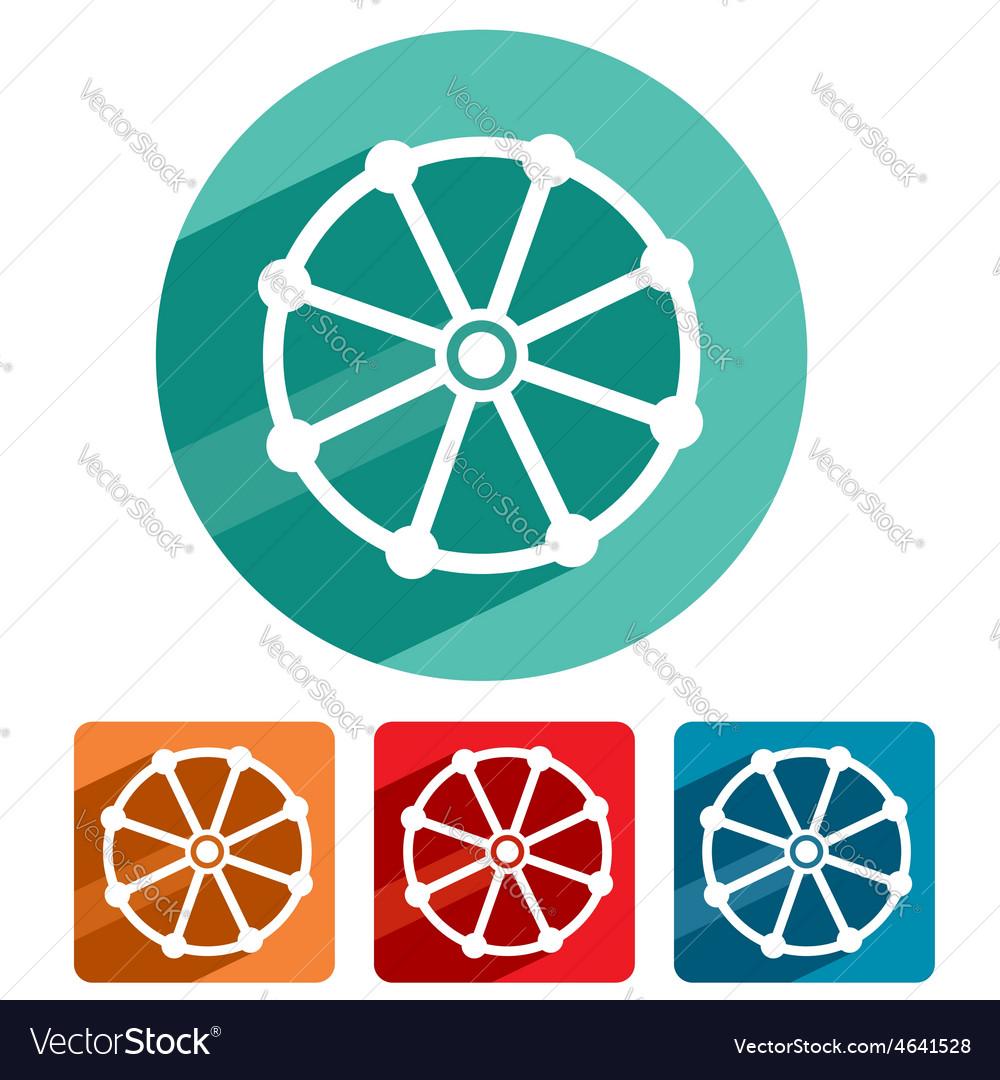Buddhism symbol icon flat design vector | Price: 1 Credit (USD $1)