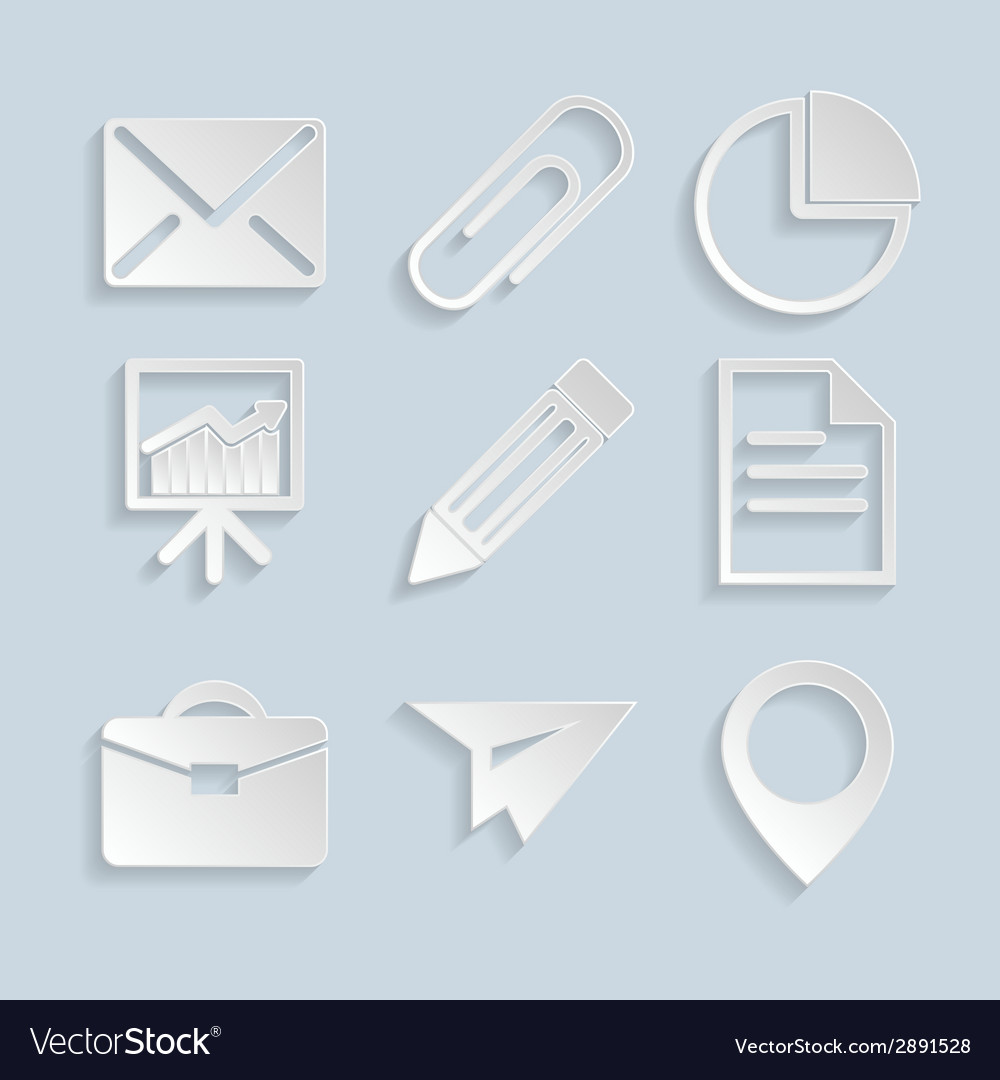 Business paper icons vector | Price: 1 Credit (USD $1)