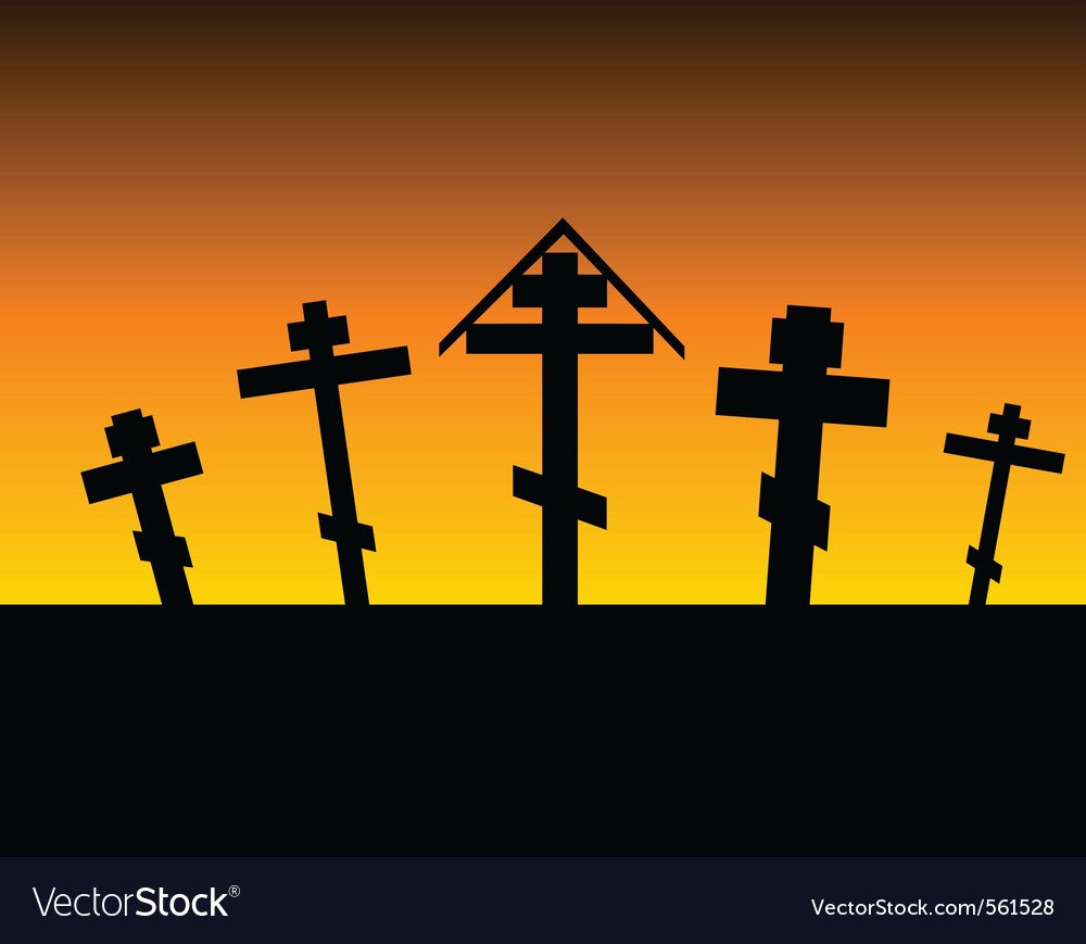 Cemetery night vector | Price: 1 Credit (USD $1)