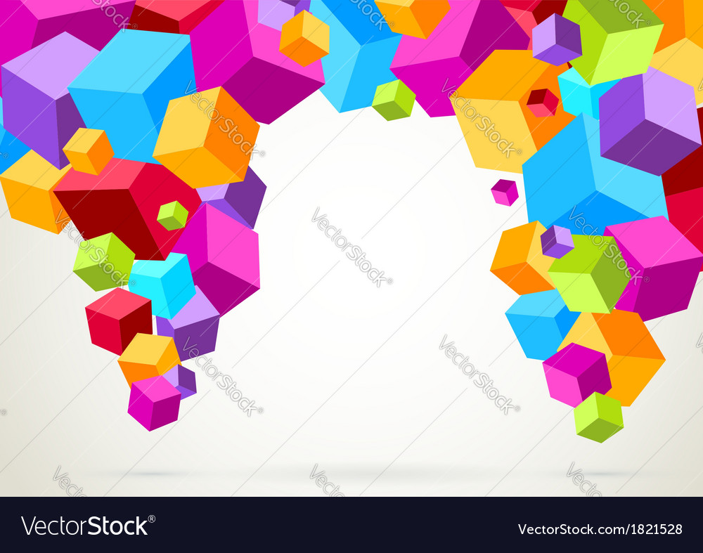 Colorful bright lightweight cubes vector | Price: 1 Credit (USD $1)