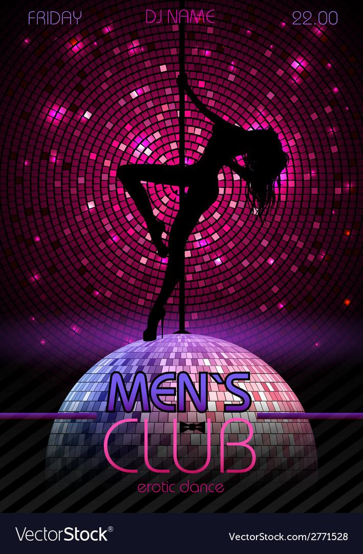 Disco background disco poster vector | Price: 1 Credit (USD $1)