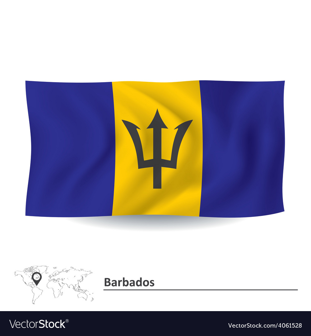 Flag of barbados vector | Price: 1 Credit (USD $1)