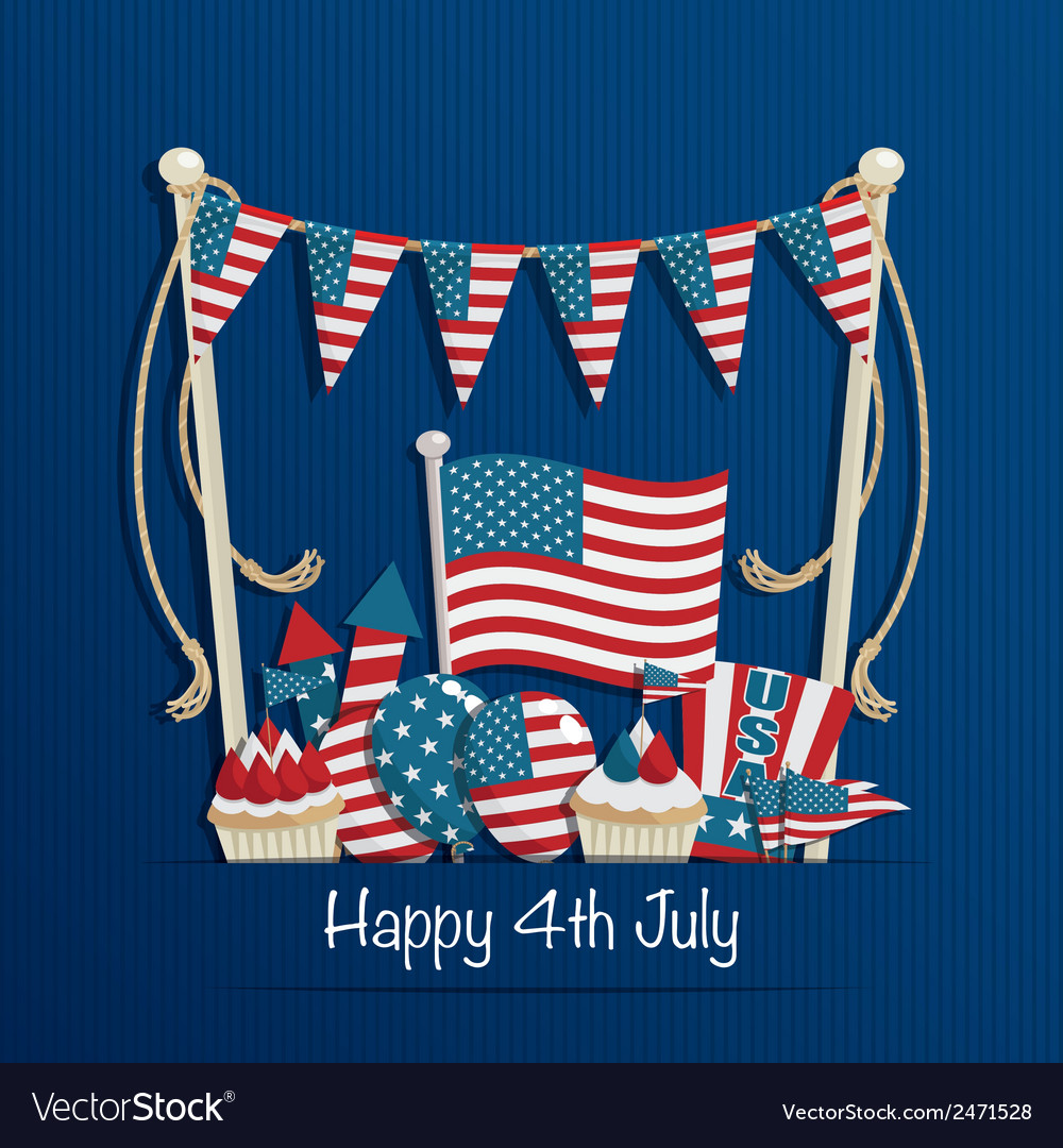 Fourth of july decoration vector