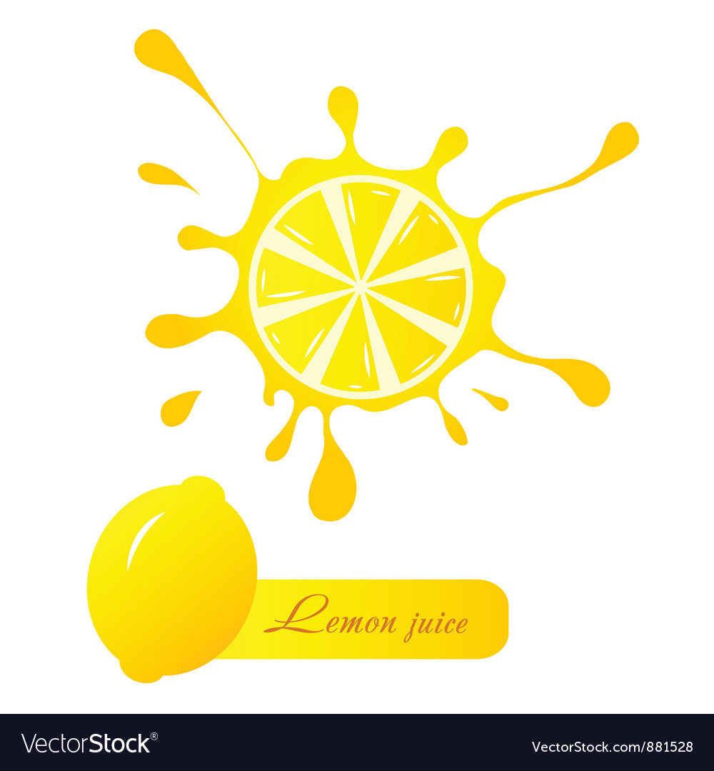 Lemon juice vector | Price: 1 Credit (USD $1)