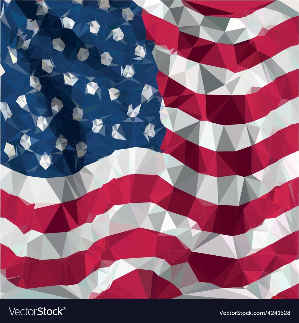 Low polygon of usa american flag vector | Price: 1 Credit (USD $1)