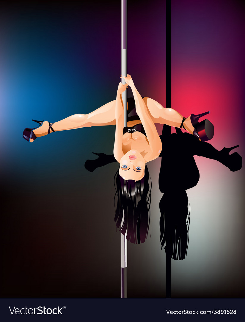 Pole dancer upside down vector | Price: 3 Credit (USD $3)