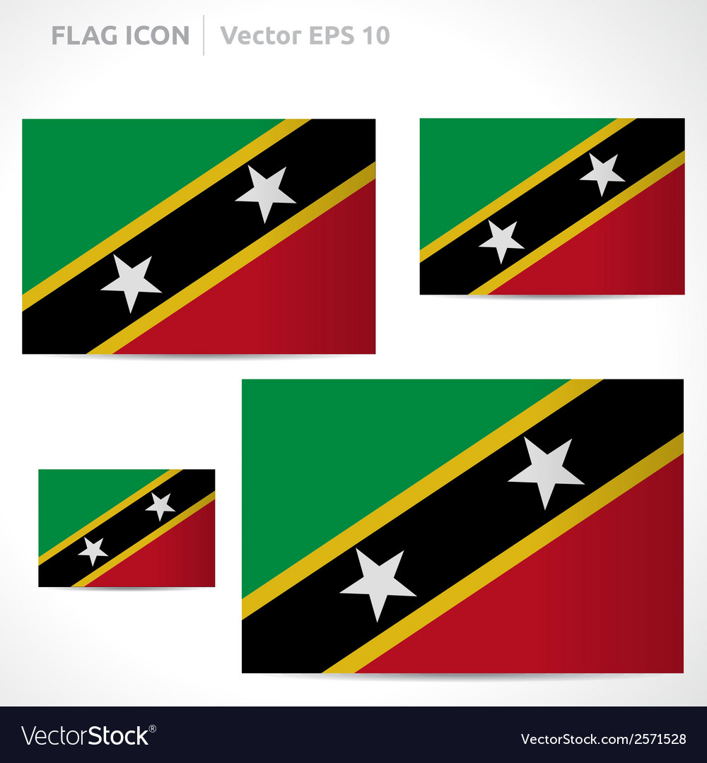 Saint kitts and nevis flag template vector | Price: 1 Credit (USD $1)