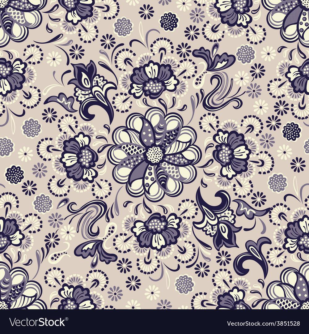Seamless floral pattern vintage vector | Price: 1 Credit (USD $1)