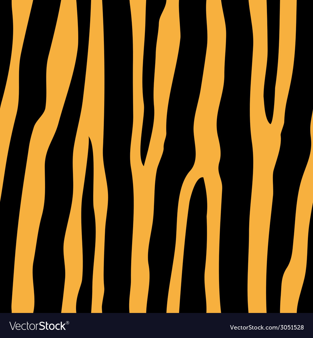Seamless tiger pattern vector