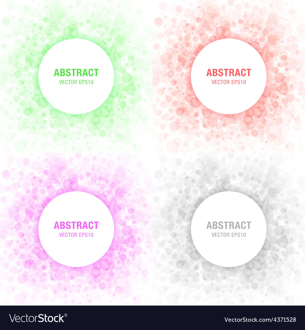 Set of colorful light abstract circles frames vector | Price: 1 Credit (USD $1)