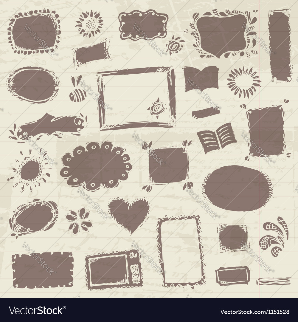 Sketch of frames hand drawing for your design vector | Price: 1 Credit (USD $1)