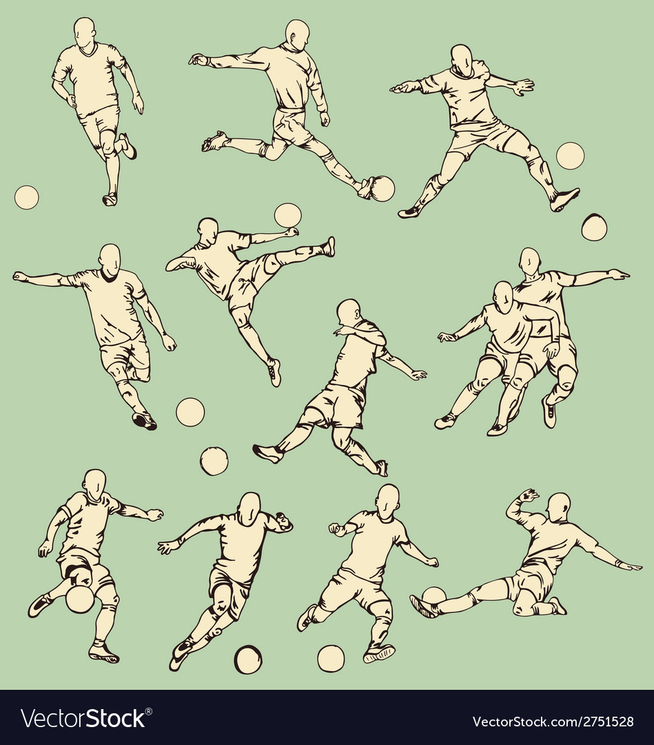 Soccer sport action collection vector | Price: 1 Credit (USD $1)