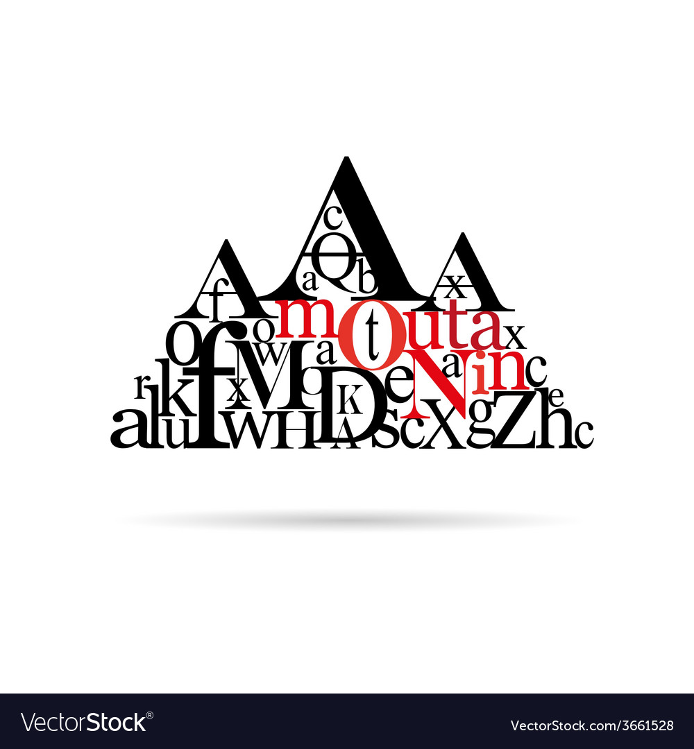 Typography mountain abstract vector | Price: 1 Credit (USD $1)