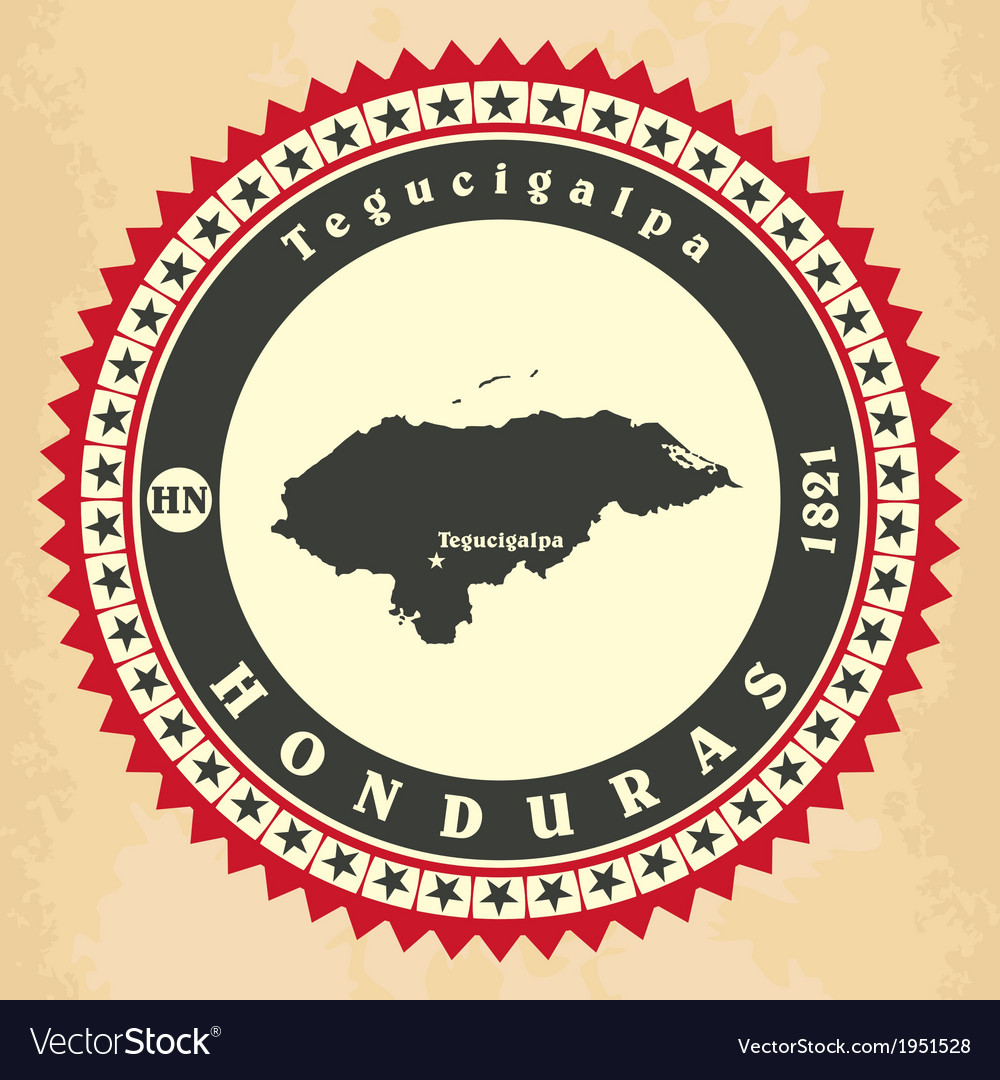 Vintage label-sticker cards of honduras vector | Price: 1 Credit (USD $1)