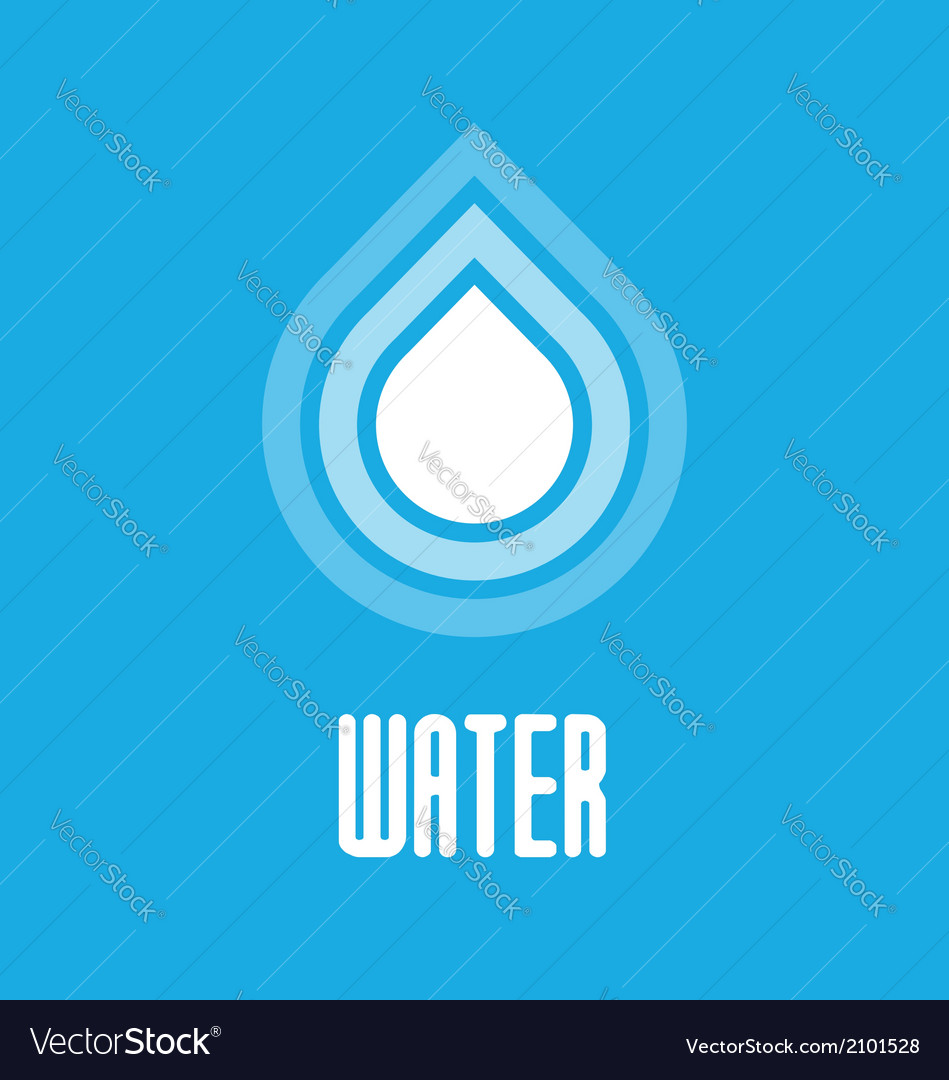 Water drops icon vector | Price: 1 Credit (USD $1)