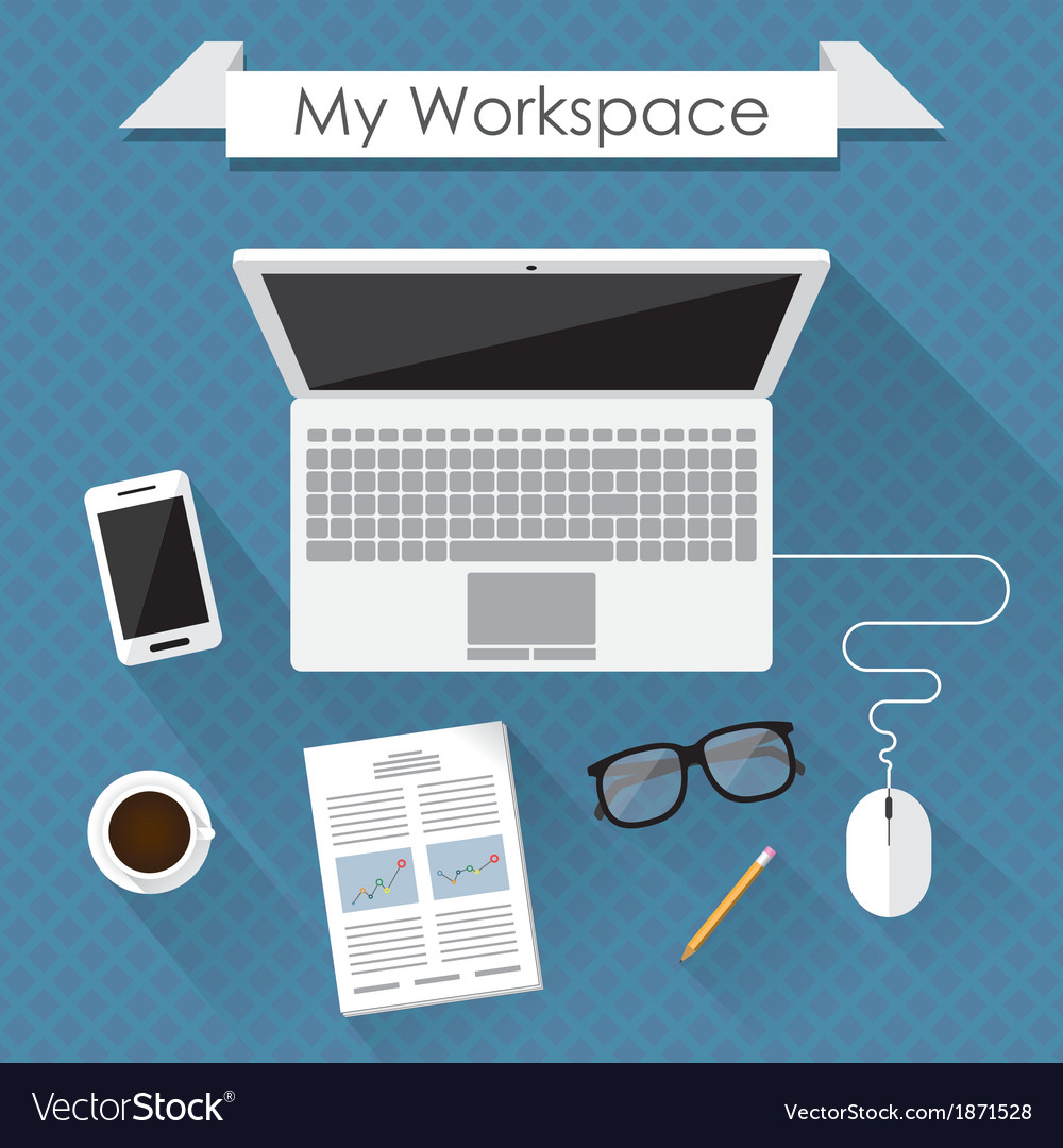 Workspace vector | Price: 1 Credit (USD $1)