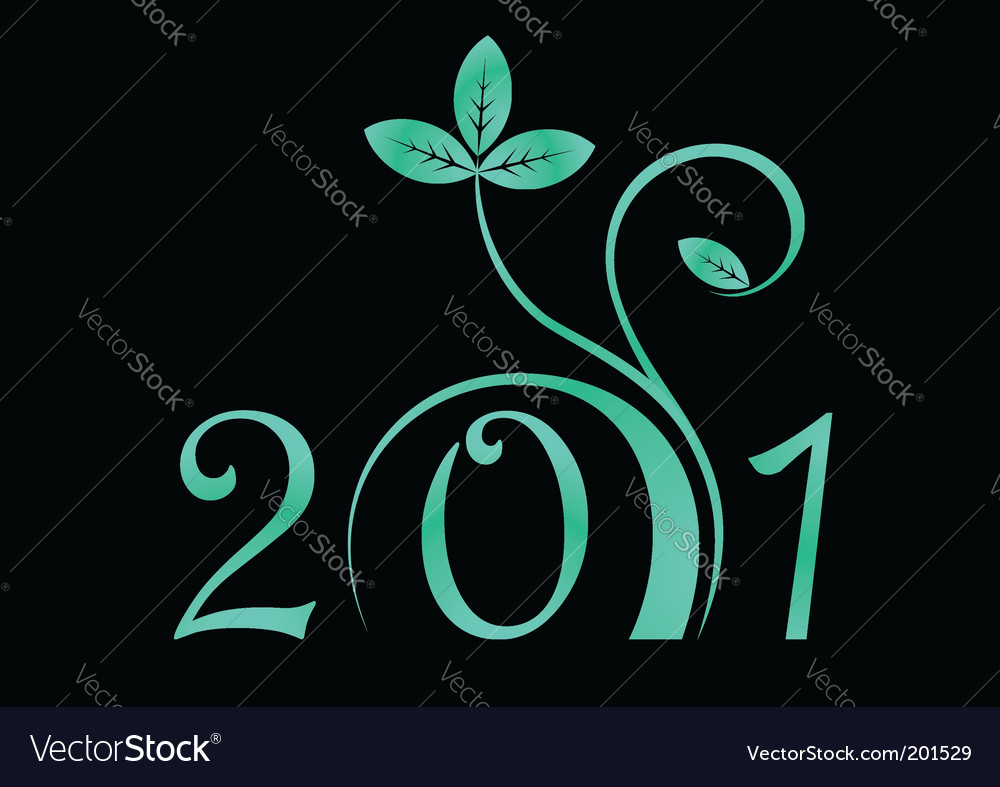 2011 year sign vector | Price: 1 Credit (USD $1)