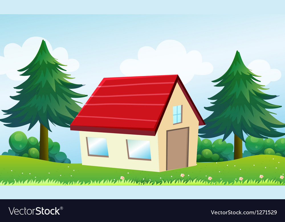 A house at the hill vector | Price: 1 Credit (USD $1)