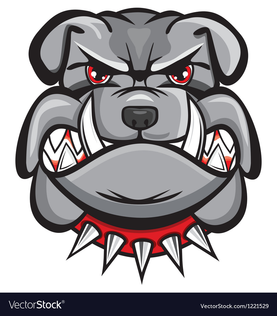 Angry bulldog head vector | Price: 3 Credit (USD $3)