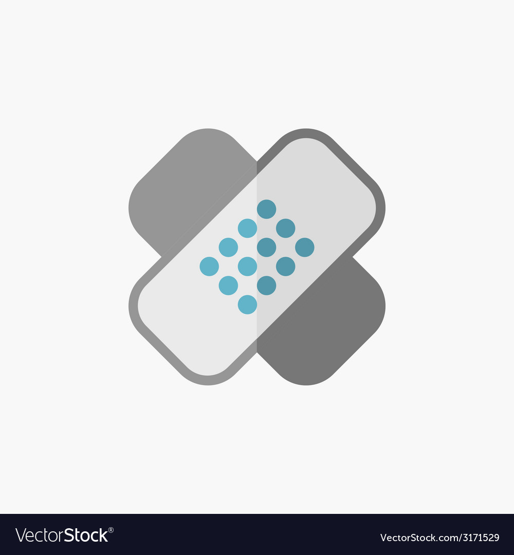 Bandage flat icon vector | Price: 1 Credit (USD $1)