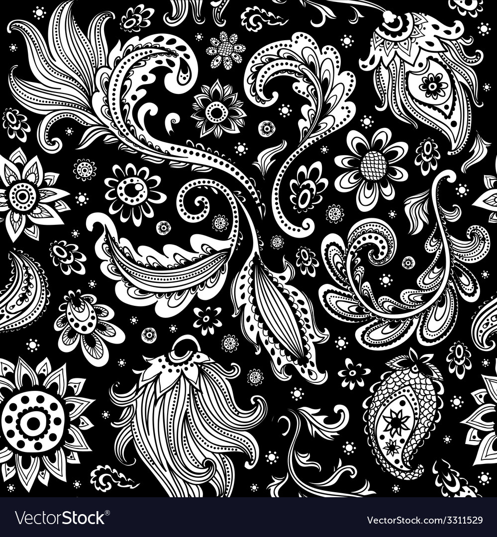 Beautiful floral seamless pattern vector | Price: 1 Credit (USD $1)