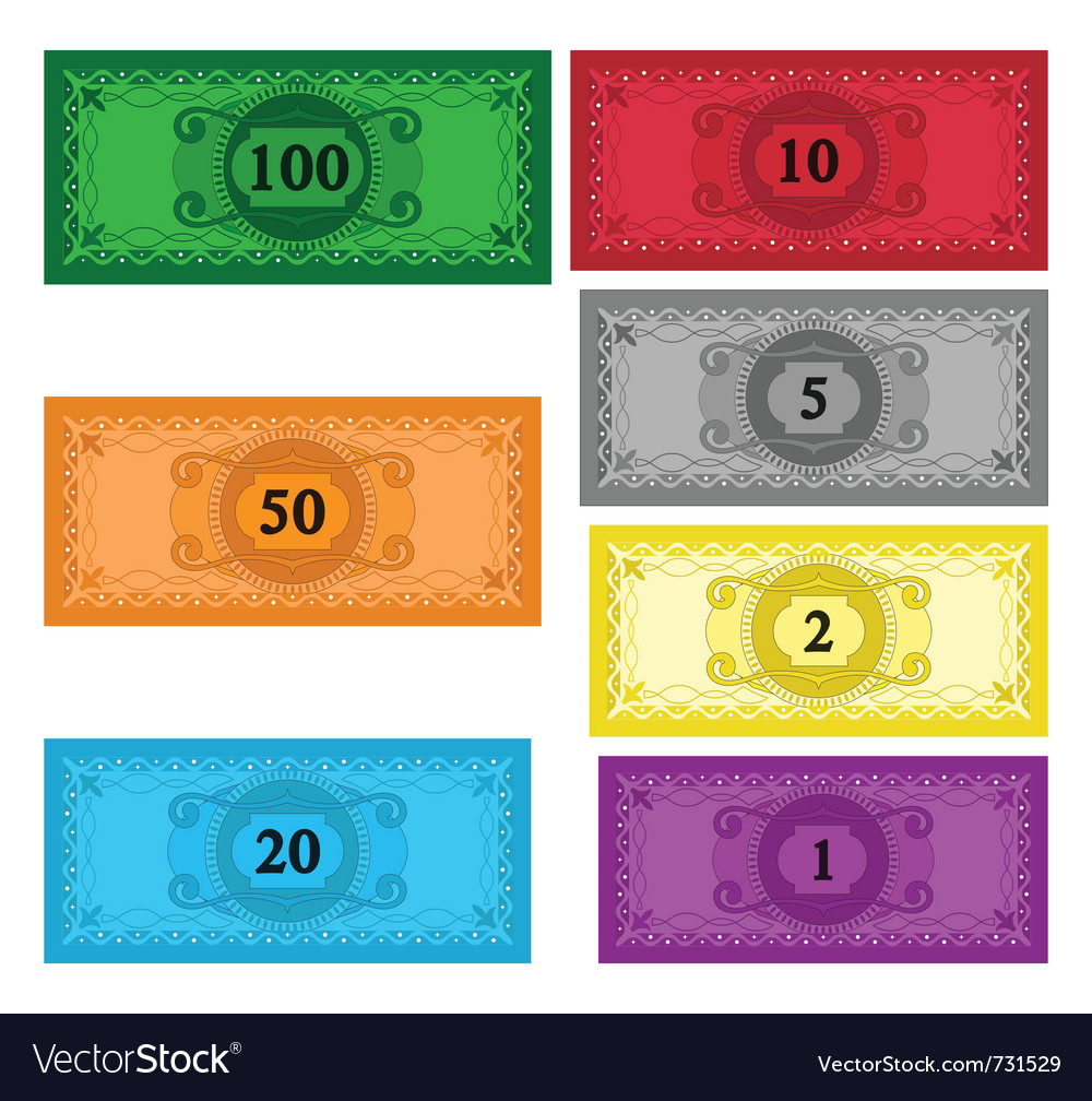 Cartoon set of money vector | Price: 1 Credit (USD $1)