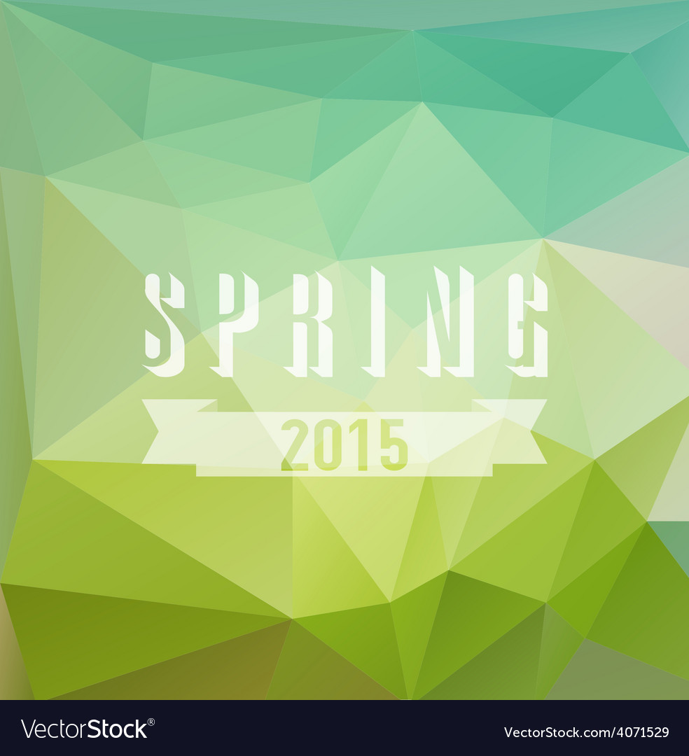 Colored triangular background with spring vector | Price: 1 Credit (USD $1)