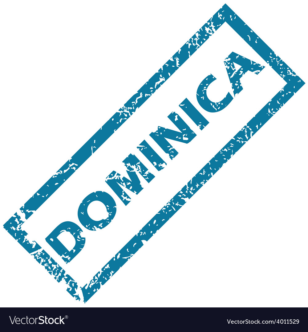 Dominica rubber stamp vector | Price: 1 Credit (USD $1)