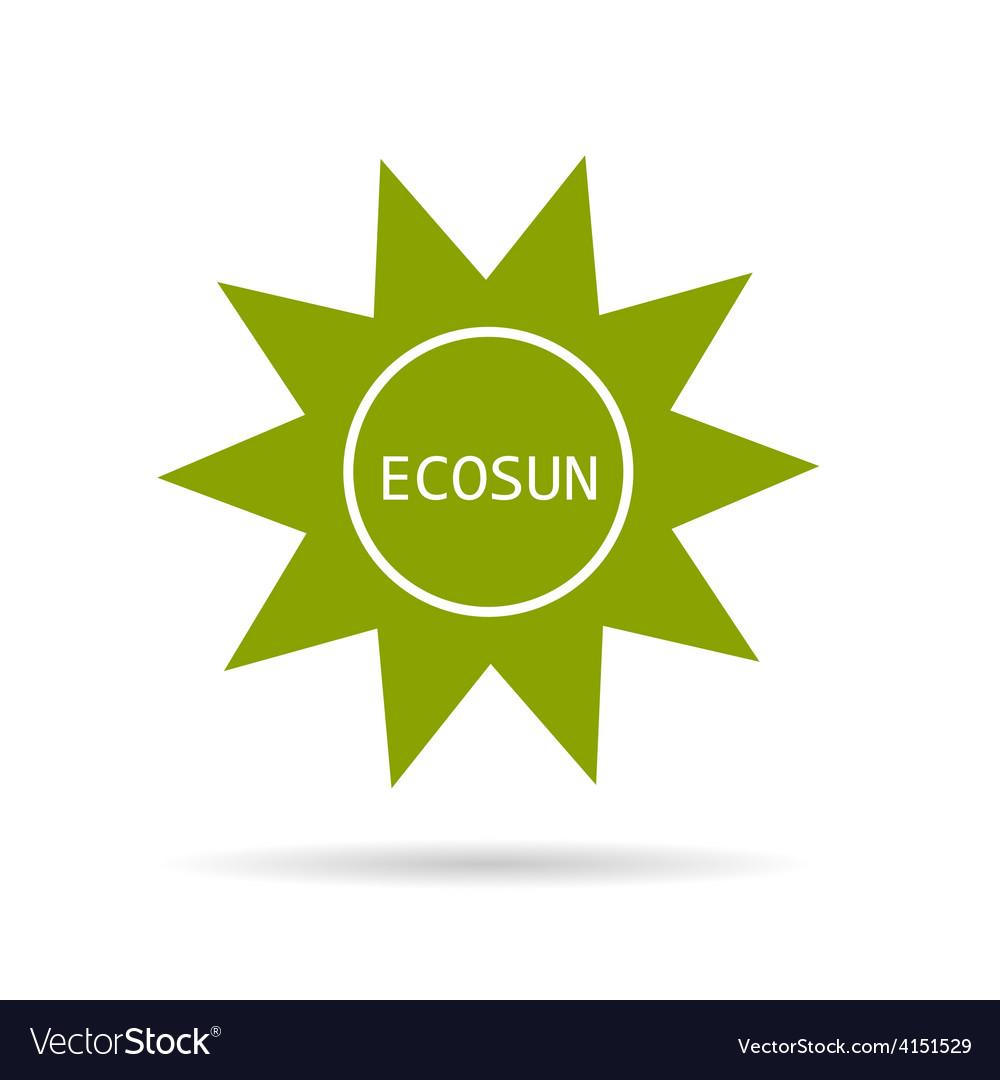 Eco sun green vector | Price: 1 Credit (USD $1)