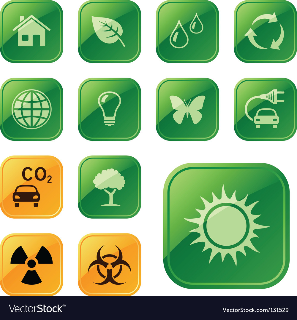 Ecological icons vector | Price: 1 Credit (USD $1)