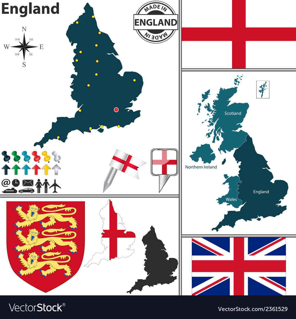 England map vector | Price: 1 Credit (USD $1)
