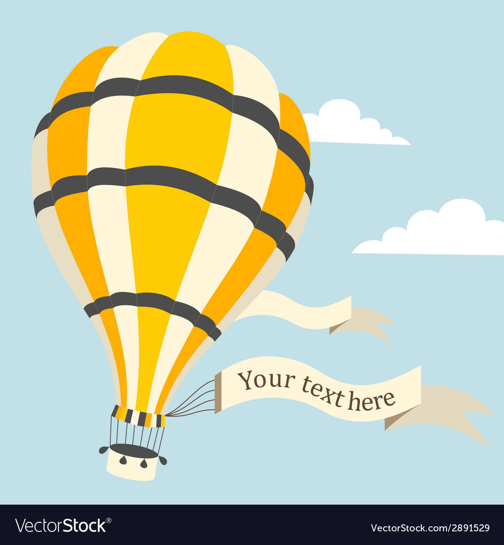 Hot air balloon on the sky vector | Price: 1 Credit (USD $1)