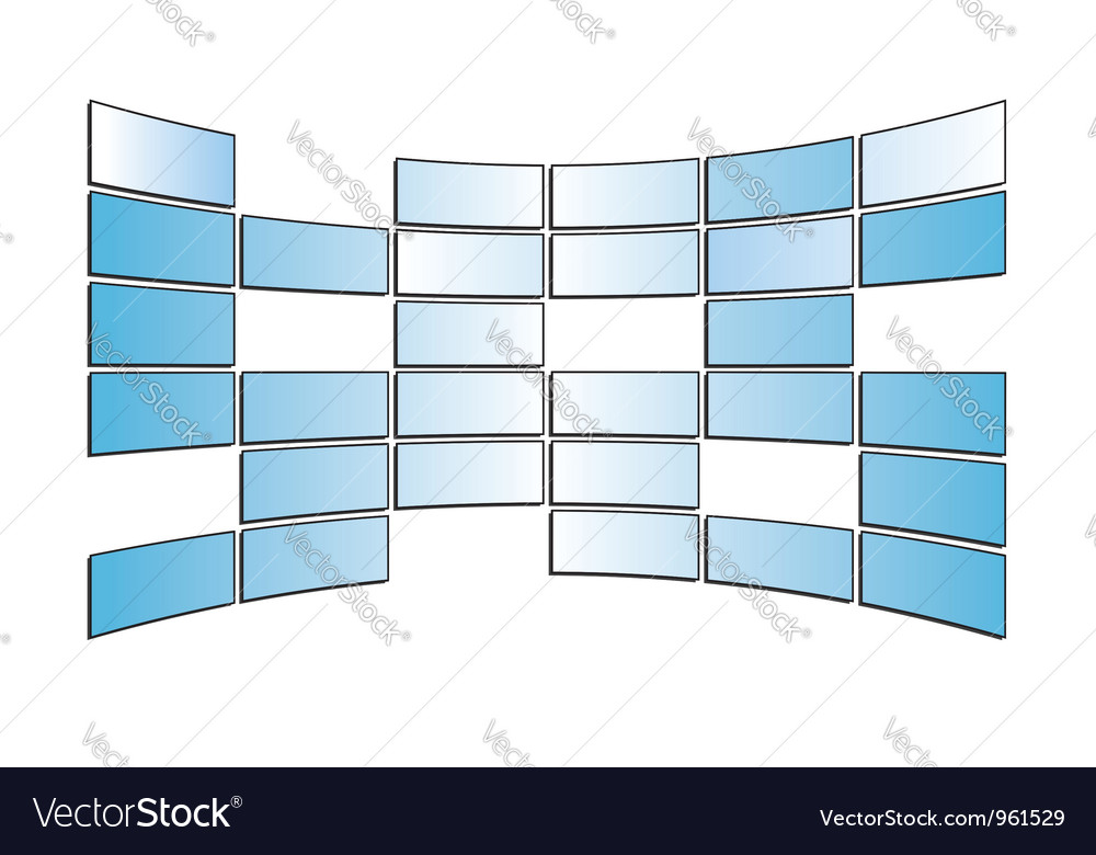 Light blue monitors - isolated vector | Price: 1 Credit (USD $1)