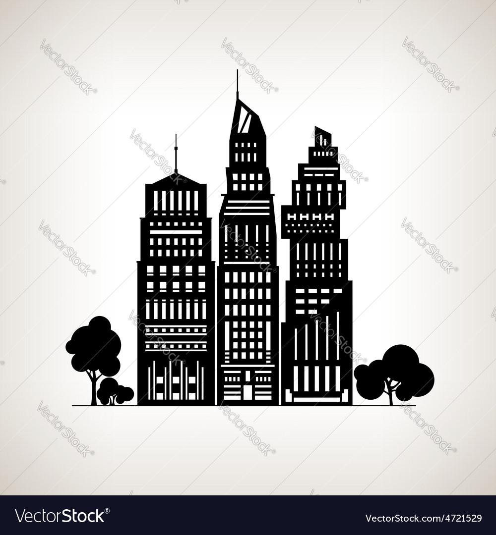 Modern big city vector   Price: 1 Credit (USD $1)