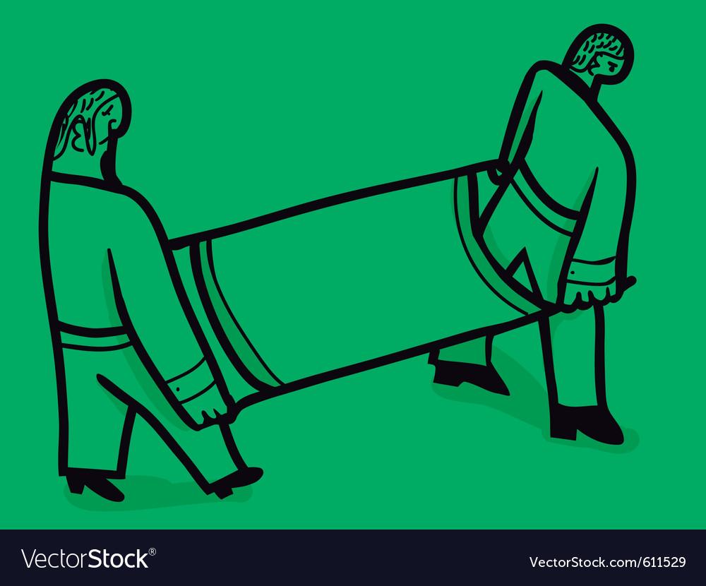Nurses load stretcher vector | Price: 1 Credit (USD $1)