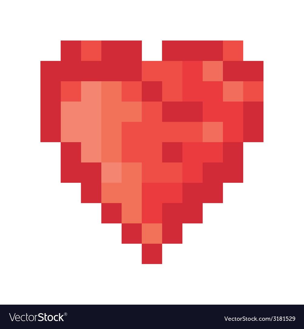 Pixel heart vector | Price: 1 Credit (USD $1)