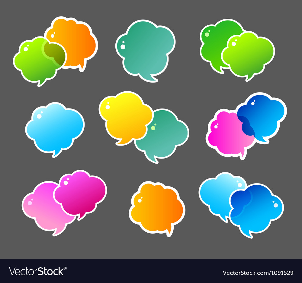 Speech bubble colorful vector | Price: 1 Credit (USD $1)