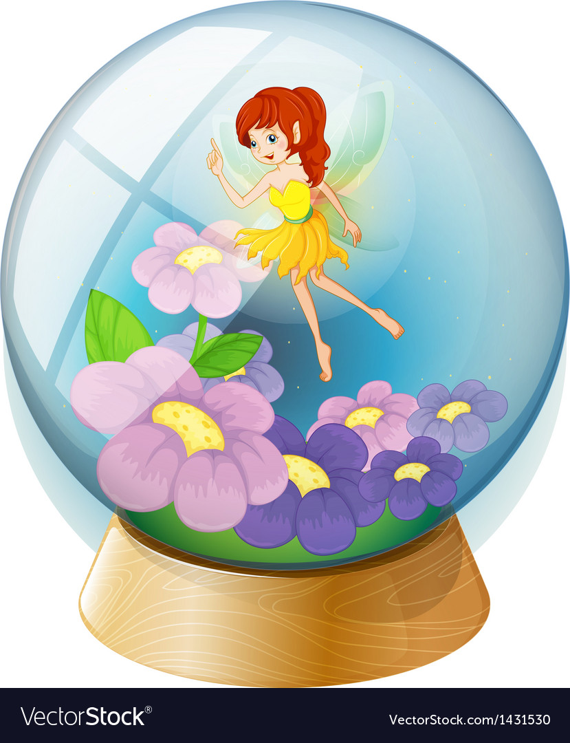 A flower fairy inside the crystal ball vector | Price: 1 Credit (USD $1)