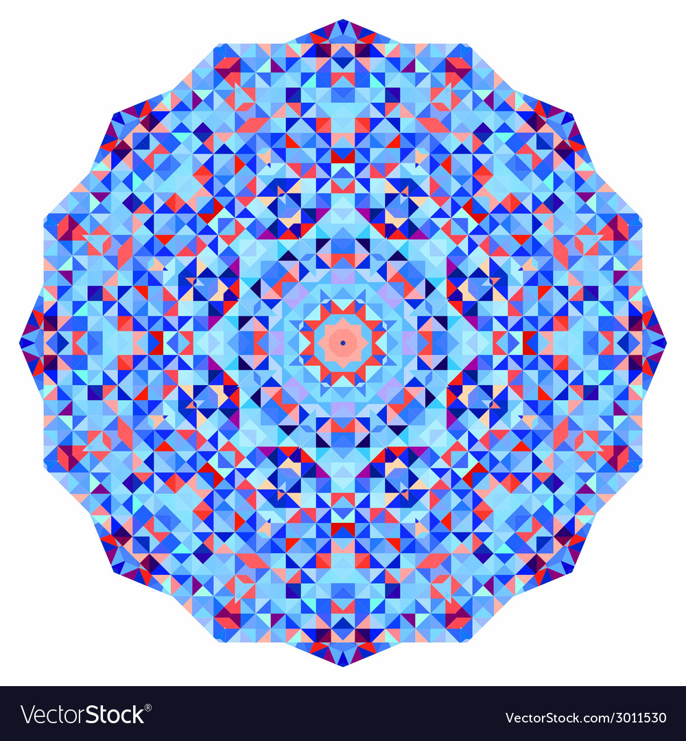Abstract colorful circle backdrop mosaic round vector   Price: 1 Credit (USD $1)